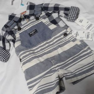 Oshkosh Shortalls & Shirt NWT 6m